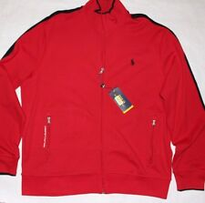 New Polo Ralph Lauren Performance Track Jacket Cotton Red Size XL