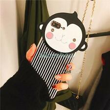 Cute Cartoon Crystal Stripe Monkey Hard Case Cover for iPhone 7 7 Plus 6 6S Plus
