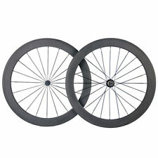 700c 50mm Clincher/Tubular carbon Fiber road bike wheels Bicycle Light wheelset