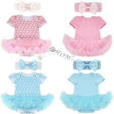 Newborn Infant Baby Girl Tutu Romper Bodysuit Jumpsuit Outfits & Headband Lovely