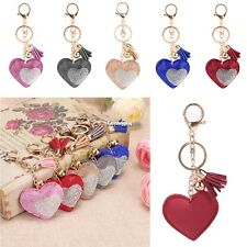 New Women Sweet Key Ring Heart Resin Rhinestone Patchwork Key Chain Decor ES9P01
