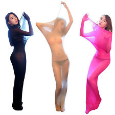 Unisex Bodystocking Lace Full Body Encasement Pantyhose 3 Colors Sleepwear Sheer