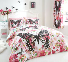 Luxury FLORAL BUTTERFLY Duvet Quilt Cover Bedding Set with Pillowcases