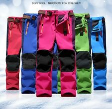 Kid Pants Outdoor Waterproof Fleece Winter Hiking Trekking Camping Sport Trouser