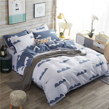 Quilt Duvet Doona Cover Set Single/Queen/King Size Bed Covers Set 100%Cotton New
