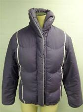 VTG womens COMFY Ski purple DOWN puffer coat jacket sz 8 USA button zip up Clean