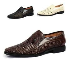 Fashion Casual Mens faux leather sandals Business woven hollow out leisure shoes