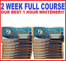 28 (FULL COURSE) 1 HOUR EXPRESS PROFESSIONAL TEETH WHITENING STRIPS (14 POUCHES)