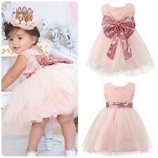 Kids Baby Girls Sequin Pageant Party Prom Communion Formal Wedding Gown Dress