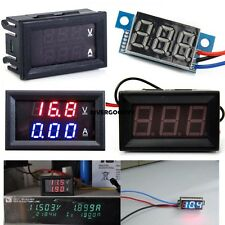 1pcs DC 0-100V/3V To 30V Blue/Red LED Panel Meter Digital Voltmeter/DC VGY01
