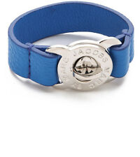 Marc By Marc Jacobs Electric Blue Large Turnlock Leather Bracelet NWT