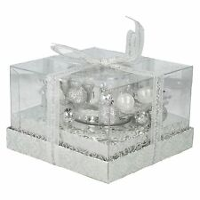 VILLAGE CANDLE TEA LIGHT HOLDER GLASS MATERIAL 8CM WEDDING HOUSE DECOR VC740SL