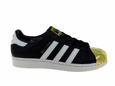 NEW WOMENS ADIDAS ORIGINALS SUPERSTAR CASUAL SHOES TRAINERS BLACK / WHITE / GOLD
