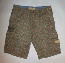 NWT TRUE RELIGION JEANS MENS COMMANDER BIG T KHAKI CAMO CARGO SHORTS sz 33