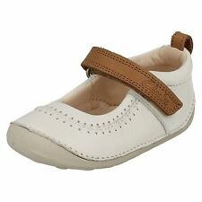 INFANT GIRLS CLARKS LEATHER RIPTAPE MARY JANE FIRST CRUISER SHOES LITTLE ATLAS