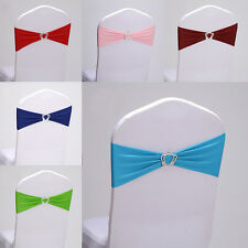 Elastic Spandex Stretch Chair Cover Sashes Bow Crown Party Banquet Wedding Decor