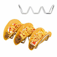 Taco Server Holder Hot Dog Stand Mexican Food Wave Rack Display Bar Kitchen Tool