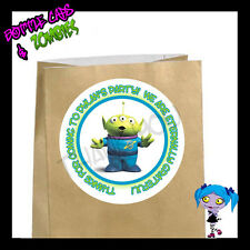 Toy Story Alien Birthday Party Favor Goody Bag STICKERS - Personalized Labels