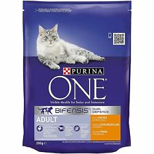 Purina One dry Cat Food 200g, 800g, 3kg, 6kg Chicken or Salmon