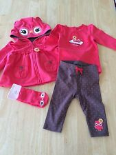 NWT Gymboree Adorable Owl Owl Bodysuit leggings jacket Socks 5 pc SZ 3-6 months