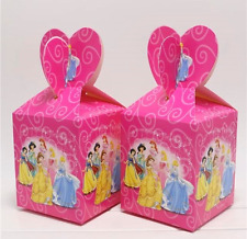 NEW Pack of 6 Disney Princess Themed Party Lolly/Candy Loot Boxes Favours