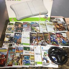Nintendo wii games   LOT  Mario Kart, wii fit board, Super Mario Galaxy