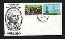 ANGUILLA FDC - 1st Day Cover UNITED STATES BICENTENNIAL G.Washington TWIN TOWERS