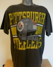 New Authentic NFL Team Apparel Pittsburgh Steelers Gray Men's Short Sleeve Shirt