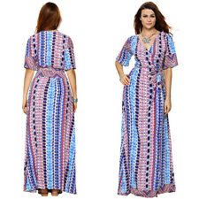Ladies Boho Dress Plus Size 8-12-14-16-20-24 Women Party Long Skirt Maxi Dresses
