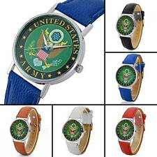 Fashion Mens Watches US Army Quartz Watch Leather Stainless Steel Wristwatches