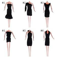 Handmade Black Dress Skirt Outfit Party Clothes for 10-12inch Barbie Dolls