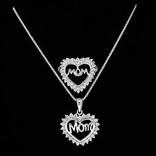 Sterling Silver Mom Set Best Gift for Mother's Day Mom Necklace Chain Ring