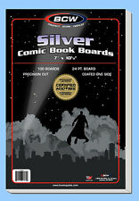 BCW: Comic Book Acid-Free Backing Boards: SILVER Size: 1000ct/CASELOT