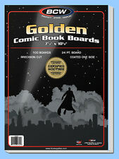 BCW: Comic Book Acid-Free Backing Boards: GOLDEN Size: 100ct  *Ships FREE in USA