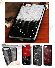 Apple iPhone 5 SE 6s 6 7 Plus Hybrid BLING Glitter Rubber Silicone Case Cover