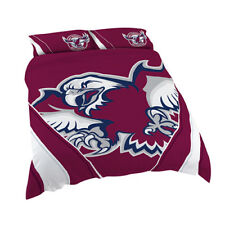 Manly Warringah Sea Eagles 2017 NRL Quilt Cover Set Single Double Queen King