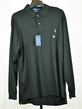 Polo Ralph Lauren Big & Tall Mens Black Long Sleeve Polo Shirt XLT 3XLT
