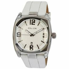Police Edge Mens Analog Watch Casual White Band PL12963JS-01