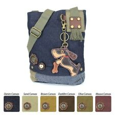 Chala Patch Crossbody Bag with Faux Leather Coin Purse (Weiner hound dog)