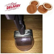 Set of 4 Stop Rolling Wheel Furniture Wheel Grip Caster Cups 3-1/4 Inch Caramel