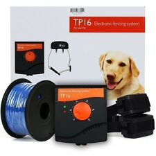 Waterproof Electric Dog Fence System Hidden Fencing 3 Collar Containment Deluxe
