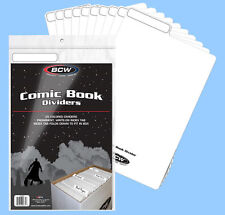 BCW: Fold-Tab Box Dividers: COMIC Size WHITE 100ct *FREE SHIPPING in USA