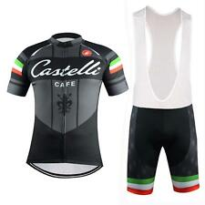 castelli Cycling Clothing Jersey & Bib Shorts Kit Sets Coolmax