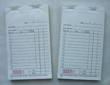 Lot (2) Adams 1A Carbonless Duplicate Sales Order Money Payment Receipt Books
