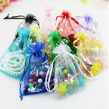50P Organza Jewelry Candy Gift Pouch Bags Wedding Party Xmas Favors Decor 9x7cm