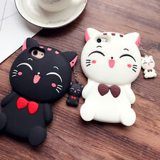 Cute Cartoon Big Face Cat Soft 3D Silicon Case Cover For iPhone 6 6s 7 Plus
