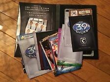 The 39 Clues Lot, 4 books and 2 sets of game cards