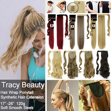 US Real Layered Ponytail Clip In as human Hair Extension Pony Tail Wrap On T32