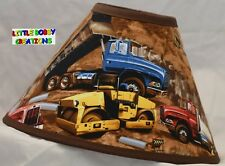 Construction Trucks Lamp Shade (Made by LBC)  SHIPS WITHIN 48 HOURS!!!