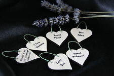 LITTLE HEART SIGN & GIFT TAG-*YOUR OWN TEXT*  PERSONALISED*BIRTHDAY*WEDDING*ETC